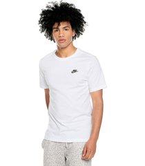 camiseta blanco nike m nsw club tee