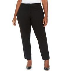 anne klein faux-suede tuxedo leggings
