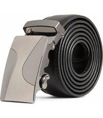 cinturon hombre lujo hebilla automatica # 4 - color negro
