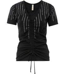 maglia a costine con strass (nero) - bodyflirt boutique