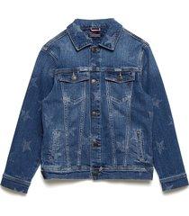 unisex denim jacket outerwear jackets & coats denim & corduroy blauw tommy hilfiger