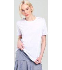 t-shirt sagres algodão oversized básica branca pp