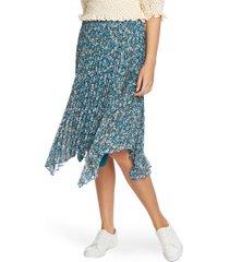 women's 1.state woodland floral print handkerchief hem skirt