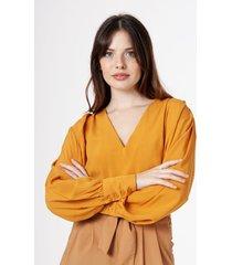 blusa naranja symmetria waley