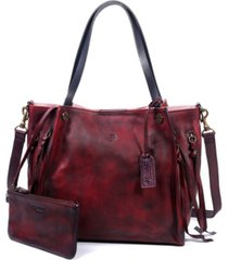 old trend daisy leather tote bag