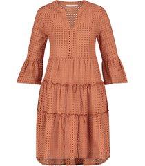 katoenen broderie jurk kampur  oranje