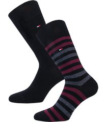 mens duo stripe 2 pack socks