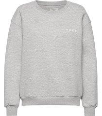 denver logo top sweat-shirt trui grijs norr