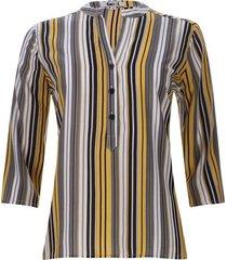 blusa lineas verticales de colores color negro, talla s