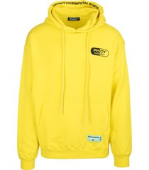 pharmacy industry yellow man hoodie with maxi logo