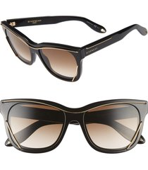 givenchy 56mm cat eye sunglasses in black at nordstrom