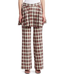 she's in charge layered plaid pants