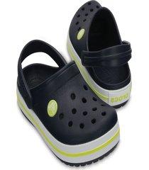 sandália crocs crocband clog kids azul/verde.