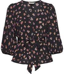 gitlagz oz blouse hs20 blouse lange mouwen zwart gestuz