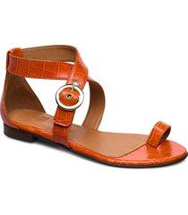 shoes 4142 shoes summer shoes flat sandals orange billi bi