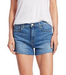 ryland high rise side zip shorts