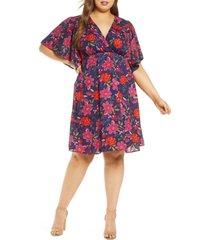 plus size women's kiyonna florence flutter sleeve dress