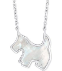 "mother-of-pearl scottie dog 18"" pendant necklace in sterling silver"