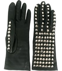 manokhi stud-detail gloves - black