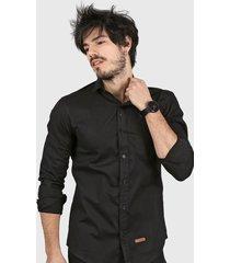 camisa negra wintertex
