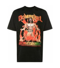 domrebel camiseta wrestler com destroyed e cristais - preto