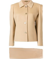 pierre cardin pre-owned two-piece skirt suit - neutrals