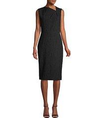 textured knee-length sheath dress