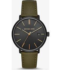 orologio blake nero con cinturino in pelle