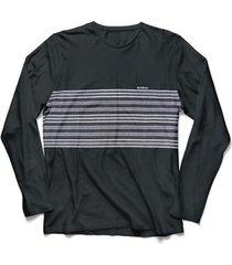 camiseta nicoboco manga longa stretch gota. - p preto - masculino