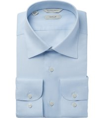 men's suitsupply slim fit traveler dress shirt, size 15.75 - blue