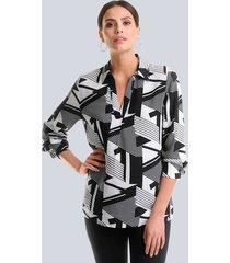 blus alba moda svart::vit