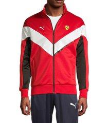 puma ferrari men's mcs track jacket - red - size s