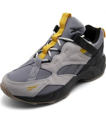 tenis lifestyle blanco-gris-amarillo reebok aztrek 96 adventure