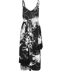 basil dress in jasmine black