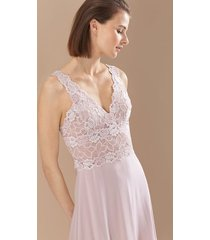 rose parfait essentials chemise pajamas, women's, black, silk, size m, josie natori