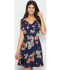 vestido royallove curto babado floral