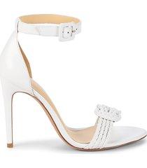 alexandre birman women's vicky braid leather sandals - white - size 40 (10)
