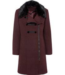 cappotto corto con collo in ecopelliccia (rosso) - bodyflirt