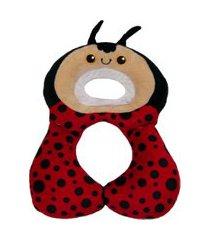suporte travesseiro para cabeça e pescoço do bebê joaninha vermelha