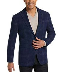 joseph abboud blue plaid slim fit sport coat