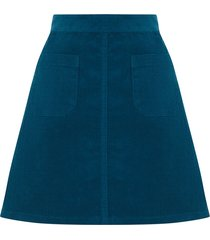 patch pocket cord skirt