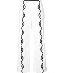 contrast-trim wave trousers