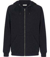 double logo zip up hoodie
