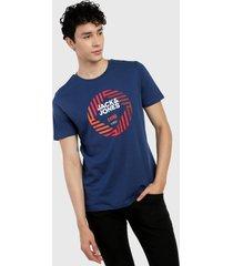 camiseta azul-rojo-blanco jack & jones
