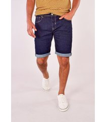 korte broek gabbiano denim bergamo short blue rinsed met stretch