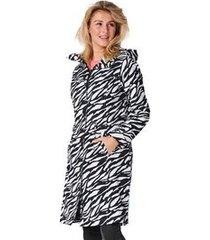 happyrainydays regenjas coat brascha zebra black off white