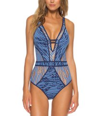 becca mesh tie-back one-piece swimsuit women's swimsuit