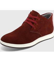 zapato casual rojo-blanco monserrate