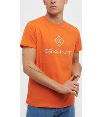 gant d1. gant lock - up ss t - shirt t-shirts & linnen yellow