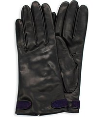 calf hair-detailed nappa leather gloves